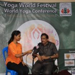 VICE CHANCELLOR Dr.G.BHASKARAN ATTEND PRESS MEET IN THE WORLD YOGA CONFERENCE EVENT