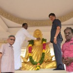 "Honorable Vice-Chancellor of Tamil University Garlanding ""Thiruvalluvar Statue"" on the Thiruvalluvar Day 16-01-2019. Respected Registrar of Tamil University with Officials of Tamil University presided in the function"