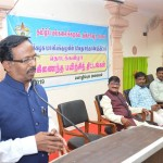 Honorable  Vice-Chancellor Addressing the Integrated Training Course Programme Event held at Tamil University on 11.03.2019